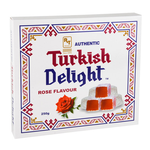Real Turkish Delight Square Box - Rose 250gm