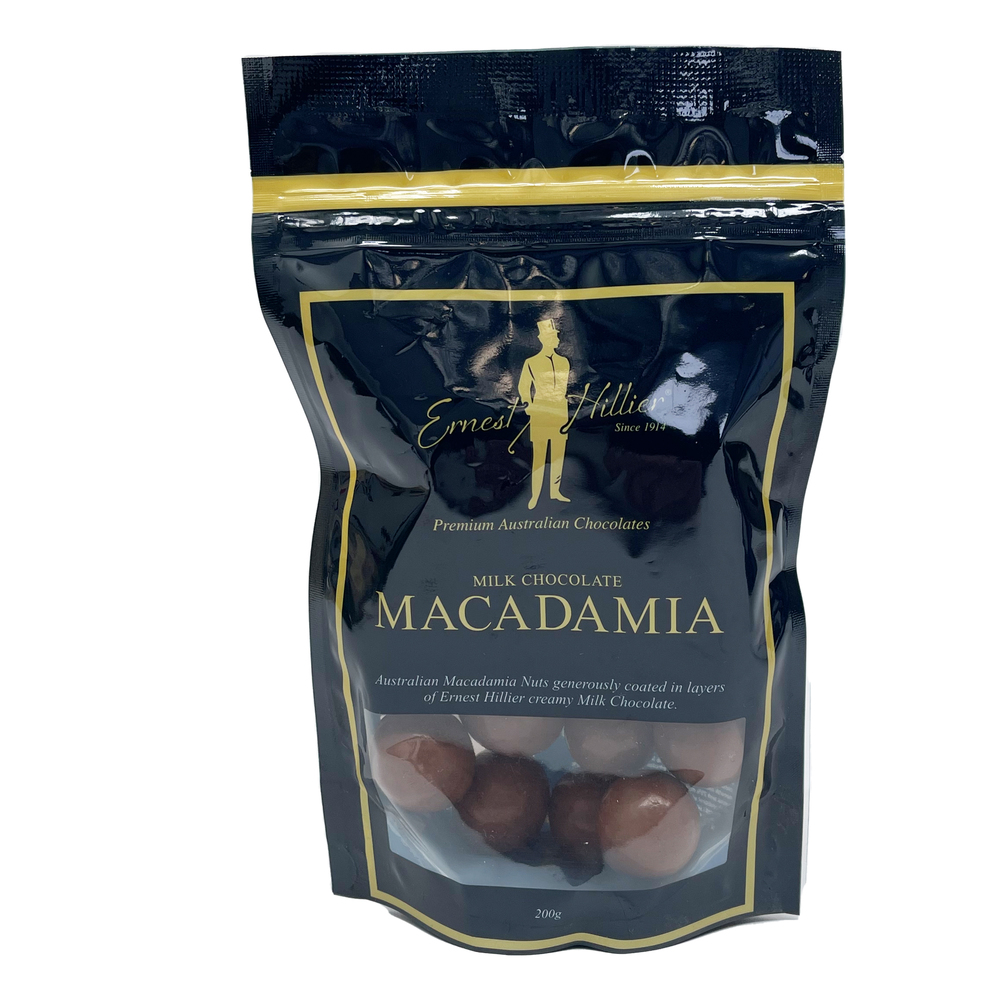 Ern. Hill. Bag Milk Choc Macadamia 200g