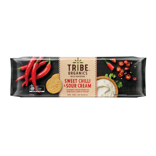 Organic Rice Crackers - Sweet Chilli & Sour Cream 100g