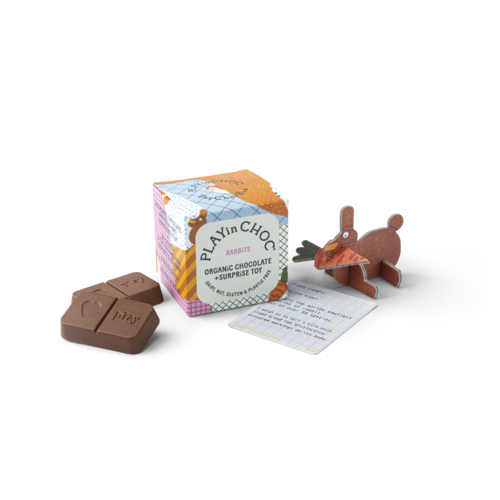 Play in Choc ToyChoc Box - Rabbits 50g