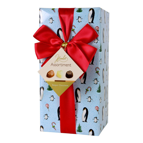 "Hamlet Chocolates ""Xmas Penguin"" with Ribbon 250g Assorted Wrapping"