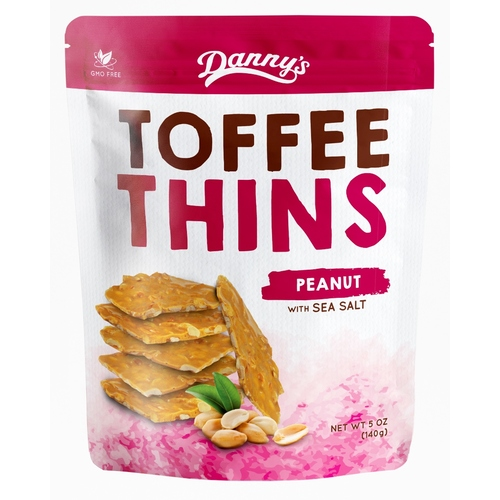 DANNY'S TOFFEE THINS - PEANUT 100G
